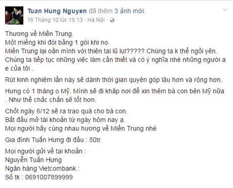 Sao Viet tich cuc keu goi ung ho dong bao mien Trung - Anh 2