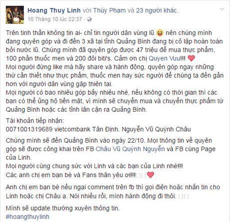 Sao Viet tich cuc keu goi ung ho dong bao mien Trung - Anh 5