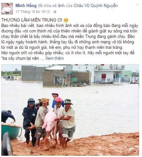 Sao Viet tich cuc keu goi ung ho dong bao mien Trung - Anh 9