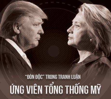 'Don doc' trong khau chien Trump-Clinton - Anh 1