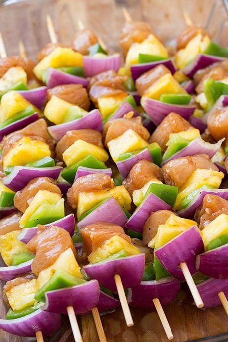 Kebab ga Hawaii – thit ga xien nuong ngon mieng lai de lam - Anh 3
