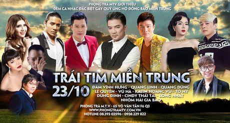 Dam Vinh Hung tat bat chuan bi dem nhac Trai tim mien Trung - Anh 1