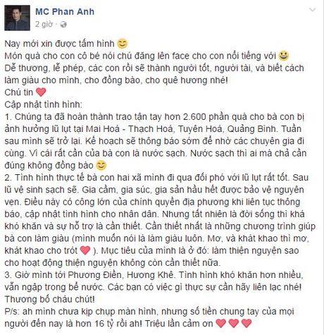 Sau 3 ngay, Phan Anh gay 'choang' voi 16 ty dong ung ho mien Trung - Anh 2