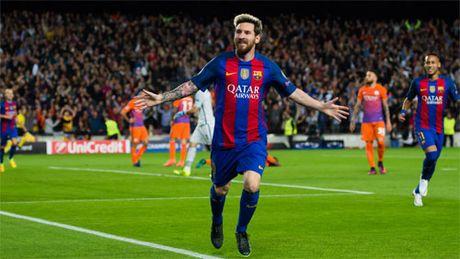 Messi lap them ki luc o Champions League sau cu hat-trick vao luoi Man City - Anh 1