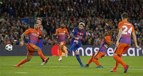 Messi lap them ki luc o Champions League sau cu hat-trick vao luoi Man City - Anh 2