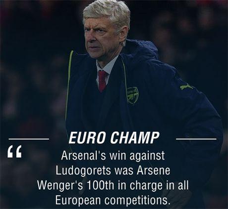 "Arsenal ""danh tennis"", Wenger can moc 100 o chau Au - Anh 1"