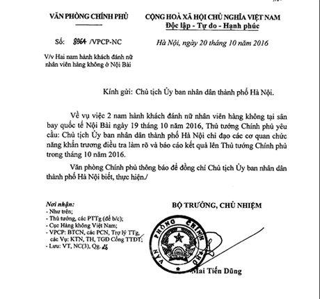 Thu tuong yeu cau lam ro vu nu nhan vien hang khong bi danh - Anh 1