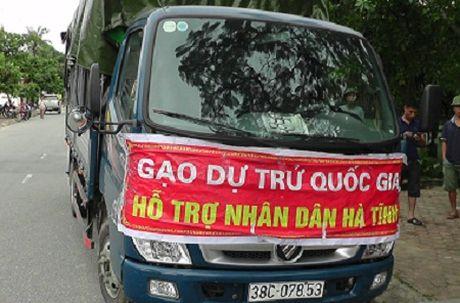 Khong co chuyen xe gao ho tro nhan dan Ha Tinh ban cho tu thuong - Anh 1