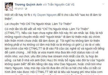 Bi to lo dan hat khong lam tu thien, Truong Quynh Anh dap tra antifan - Anh 5