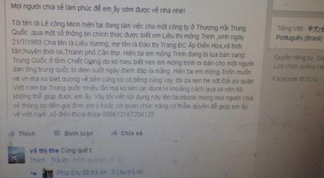 Lay phai ga chong tam than, co gai Viet keu cuu tu Trung Quoc - Anh 1