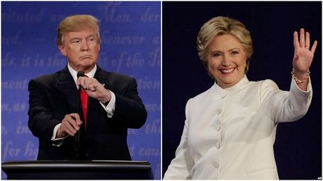 Ba Clinton dan truoc ong Trump 13 diem sau tranh luan lan 3 - Anh 1