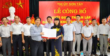 Thanh lap Dang bo co so Khoi Doanh nghiep Son Tay - Anh 1