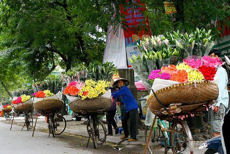 Chum anh dep nuc long nhung ganh hang hoa chi Ha Noi moi co - Anh 5