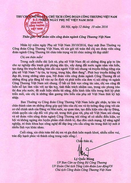 Thu chuc mung cua Chu tich CDCT Viet Nam nhan ngay 20/10 - Anh 2