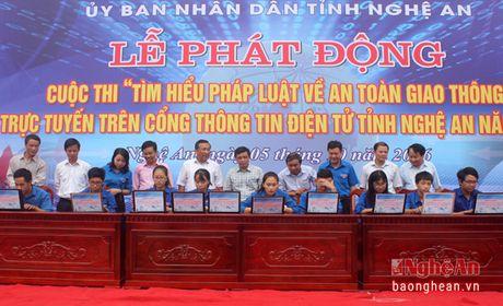 Thi tim hieu ATGT truc tuyen: THPT Nguyen Canh Chan la quan quan - Anh 1