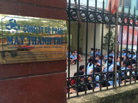 Buc xuc truoc quyet dinh bo nhiem, hang tram cong nhan may Thanh Tri ngung viec - Anh 2