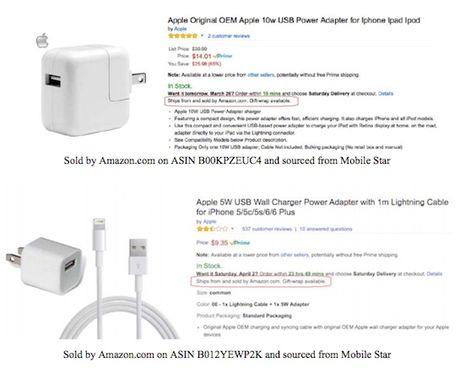 Apple: 90% phu kien iPhone ban tren Amazon la gia - Anh 1