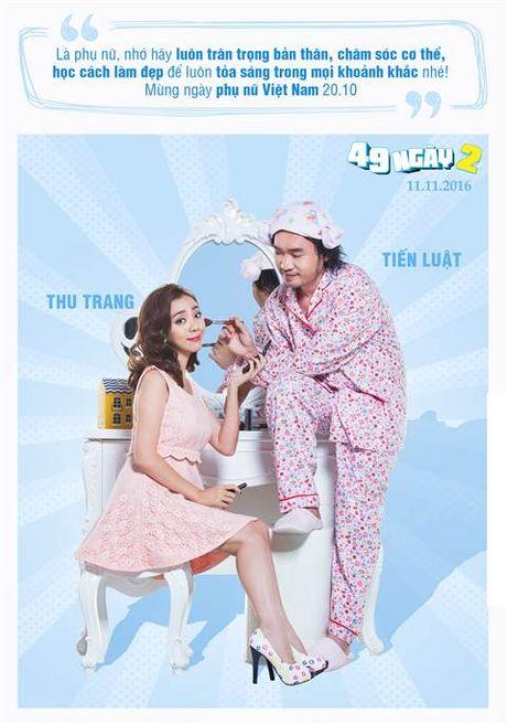 Hai huoc canh phong ngu cua vo chong 'Hoa hau hai' Thu Trang - Anh 1