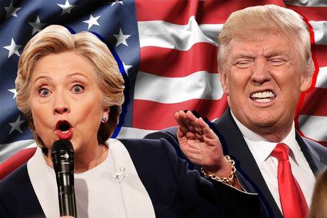 Donald Trump da ap dao Hillary Clinton nhu the nao trong cuoc doi dau thu ba? - Anh 1