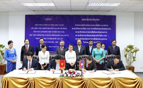 Viet Nam va Lao tang cuong hop tac trong linh vuc khoa hoc - Anh 1