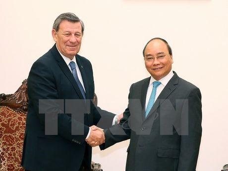 Thu tuong Nguyen Xuan Phuc tiep Bo truong Ngoai giao Dong Uruguay - Anh 1