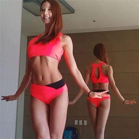Than hinh 'than Ve Nu' cua my nhan phong gym xu Han - Anh 15