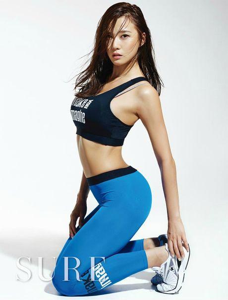 Than hinh 'than Ve Nu' cua my nhan phong gym xu Han - Anh 4