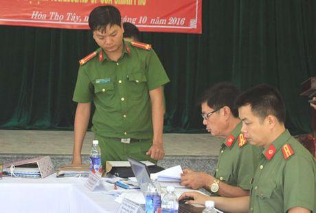 Kiem tra cong tac phoi hop giua luc luong cong an va quan su trong bao ve ANCT va TTATXH - Anh 1