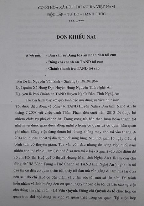 Vu pho Chanh an huyen keu cuu: Don khieu nai lieu co bi 'chim xuong'? - Anh 1