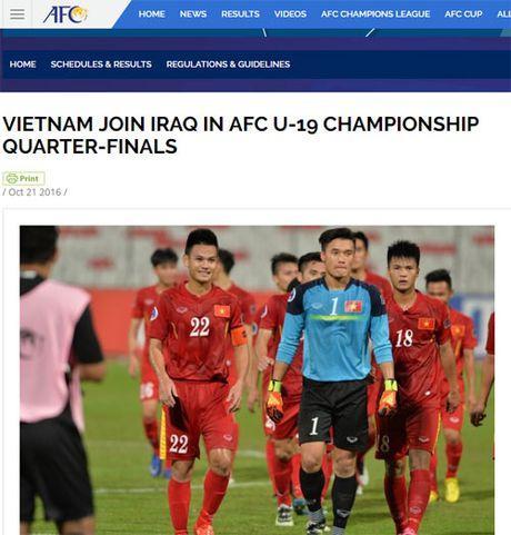 AFC khen U19 Viet Nam choi 'manh me va mau lua' - Anh 1