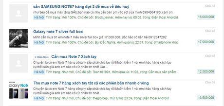 'Fan cuong' van lung mua Galaxy Note 7 xach tay - Anh 1