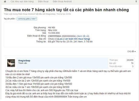 'Fan cuong' van lung mua Galaxy Note 7 xach tay - Anh 2