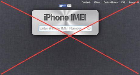 Canh bao iPhone bi khoa iCloud vi check imei qua web 'lau' - Anh 1