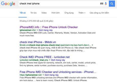Canh bao iPhone bi khoa iCloud vi check imei qua web 'lau' - Anh 3
