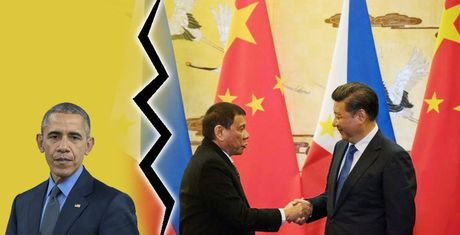 Philippines 'chua chay' tuyen bo chia tay My cua Tong thong Duterte - Anh 1
