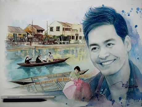 Chang trai ve tranh MC Phan Anh huong ve mien Trung tuyet dep - Anh 1