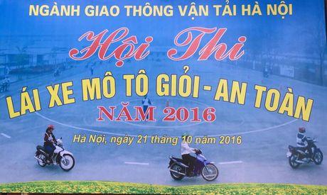 Hoi thi lai xe moto gioi, an toan nam 2016 nganh GTVT Ha Noi - Anh 1