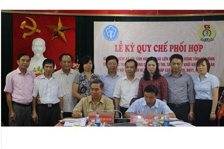 LDLD tinh Hoa Binh: Phoi hop voi BHXH bao ve quyen loi NLD - Anh 1
