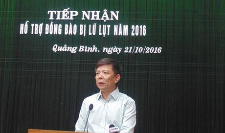 Chu tich tinh Quang Binh gui loi cam on vi nhung su ho tro sau mua lu - Anh 1