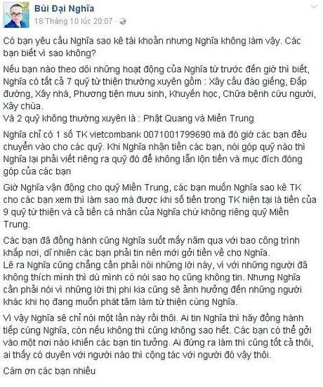 MC Dai Nghia gap rac roi voi hon 800 trieu tien tu thien - Anh 2