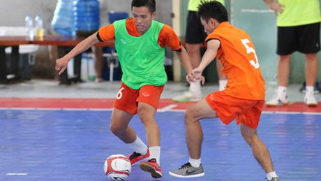 DT Futsal Viet Nam giai tan - Anh 1