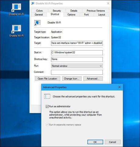 Tu tao phim nong bat/tat Wi-Fi tren Windows 10 - Anh 9