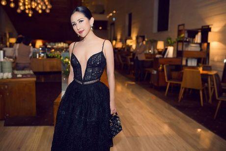 Fashionista Tram Nguyen do dang quyen ru ben canh hoa hau Do My Linh - Anh 1