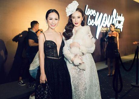 Fashionista Tram Nguyen do dang quyen ru ben canh hoa hau Do My Linh - Anh 3