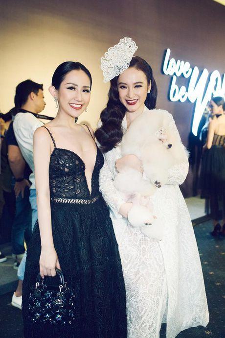 Fashionista Tram Nguyen do dang quyen ru ben canh hoa hau Do My Linh - Anh 4