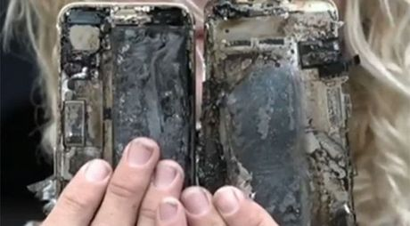 iPhone 7 phat no lam chay xe oto - Anh 1