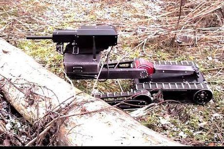 Robot ban tia Minirex - vu khi loi hai chong khung bo - Anh 1