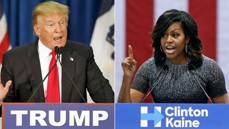 Donald Trump: Michelle Obama 'thich' Hillary Clinton qua - Anh 1