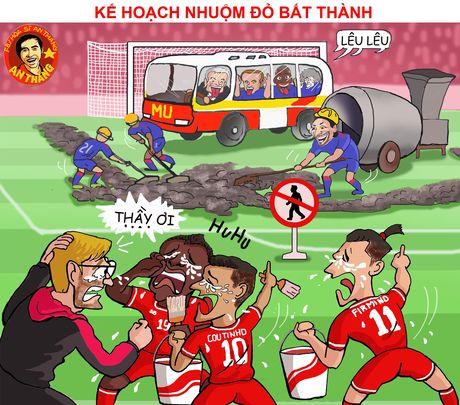 Hi hoa Mourinho dung xe bus, gia cuop doa Guardiola - Anh 12