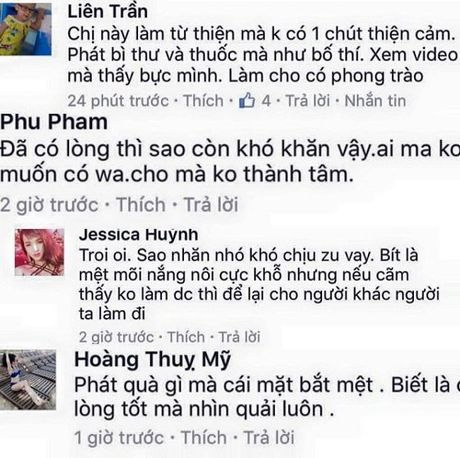 Thuy Tien bi chi trich vi tuong thuat truc tiep khi di tu thien - Anh 3